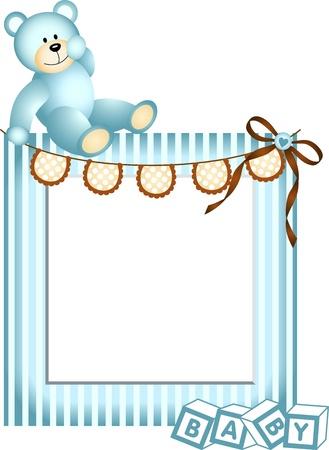 Blue Baby Frame Vector