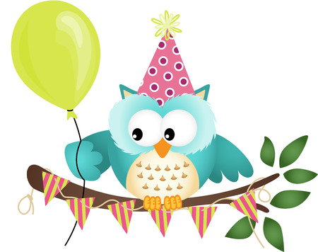 Owl Happy Birthday 版權商用圖片 - 22583049