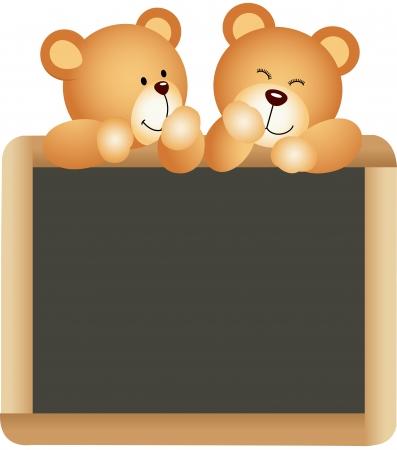 Teddies School Board Vector