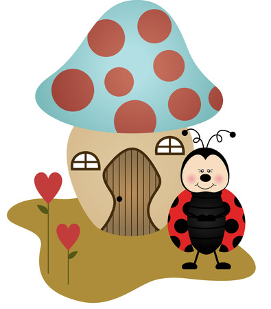 ladybird: House Ladybird Mushroom