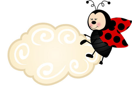 Ladybird Cloud Label Vector