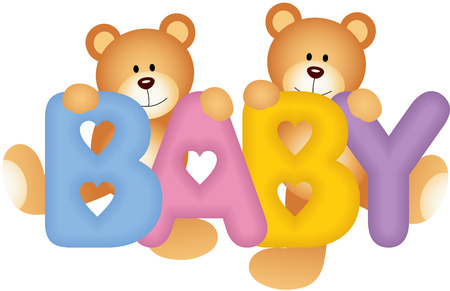 Baby Teddy Bears Stock Vector - 23239878