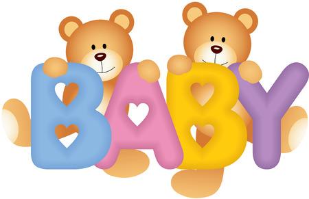 osos de peluche: Beb� Teddy Bears Vectores