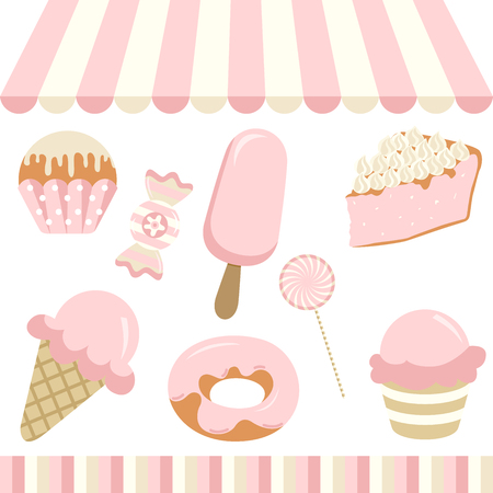 donut shop: Candy Shop Illustration