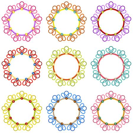 paillette: Colorful Round Frames