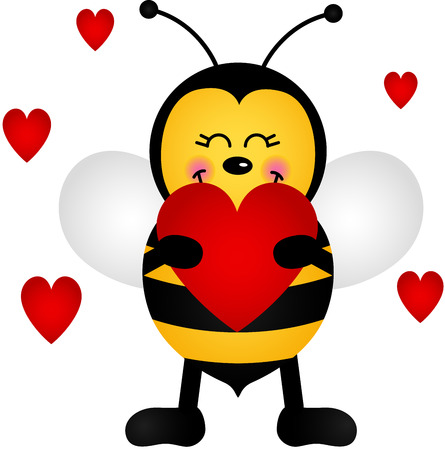 Love Bee Vector