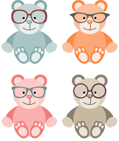 glasse: Lovely Baby Teddy Bear with Glasses