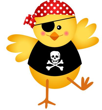 Pirate Chicken Vector