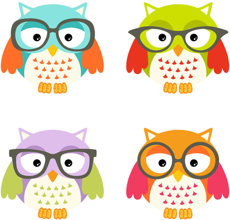 glasse: Lovely Owls with Glasses