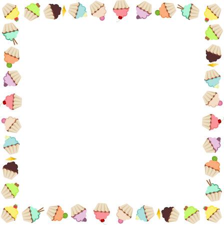 Cupcake Frame Vector