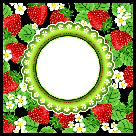paillette: Strawberry Scrapbook Photo Frame