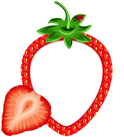 Strawberry Photo Frame Vector