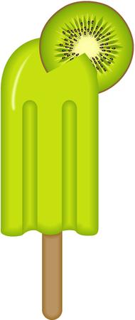 gelato stecco: Kiwi Ice Cream Stick