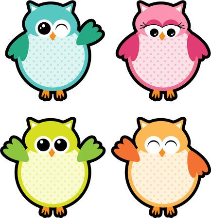 Owl Party Labels