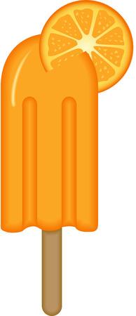 gelato stecco: Arancione Ice Cream Stick