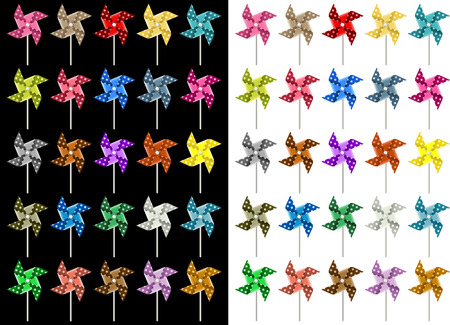 paper arts and crafts: Colored Pinwheel Illustration