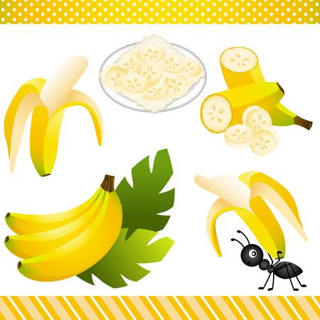banana sheet: Banana Digital Clipart