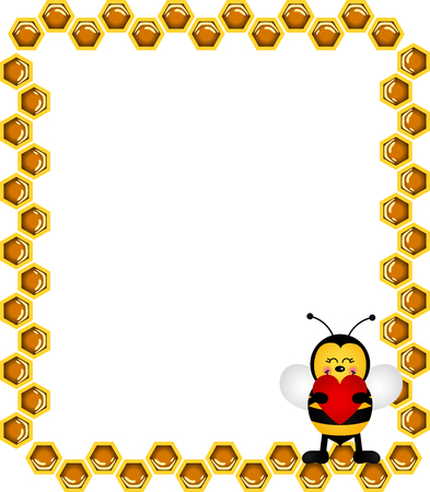 Bee Frame Vector