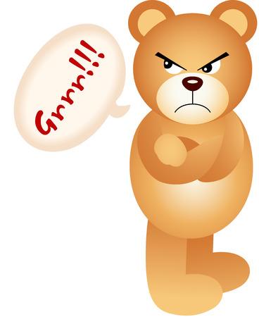 angry teddy: Teddy bear angry