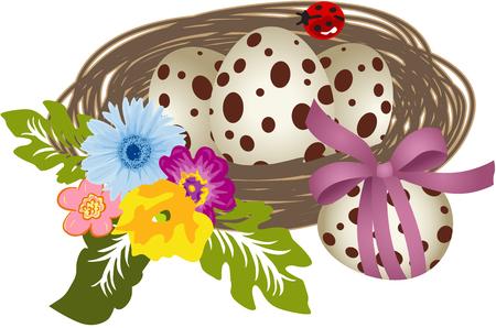 Quail Eggs in the Nest Imagens - 35799830