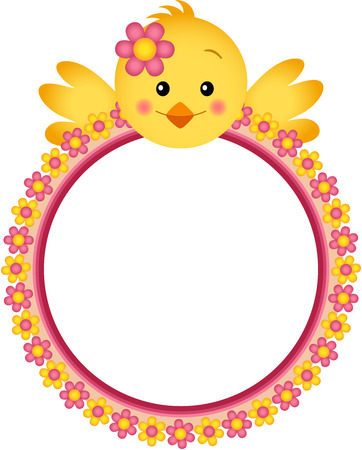 chick: Chick with Flower Frame