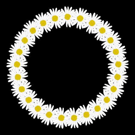p�querette: Daisy chain dans la forme d'un cadre de cercle Illustration