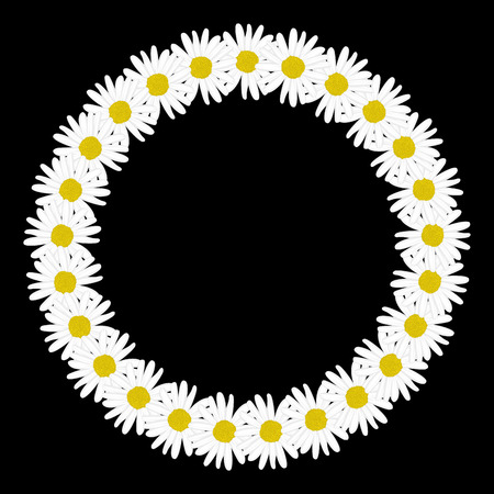 daisy flowers: Daisy chain in the shape of a circle frame