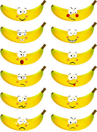 feature: Banana with feature a different expression