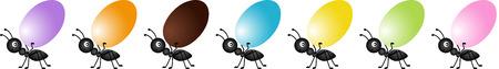 hormiga caricatura: Hormiga Llevar un huevo