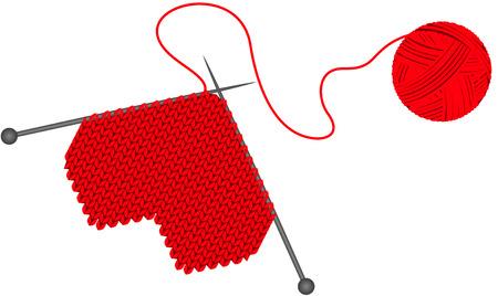 skein: Make wool knitted heart