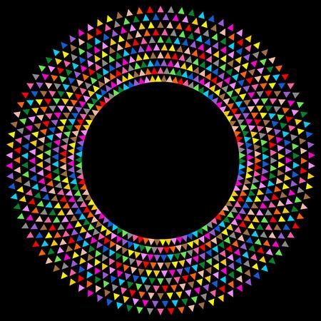chromatique: Cadre rond color� avec des triangles