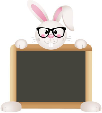tableau: Bunny Teacher with School Board