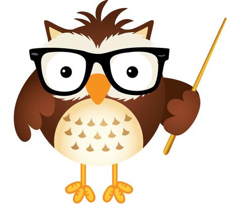 Teacher owl Stock Illustratie