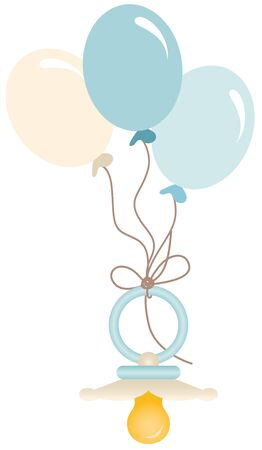 baby blue: Blue baby pacifier with balloons