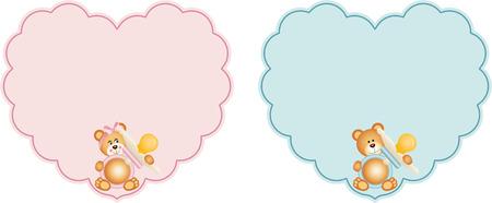 bebes niñas: Etiqueta del corazón del bebé