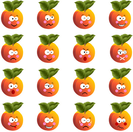 to laugh: Peach with feature a different expression
