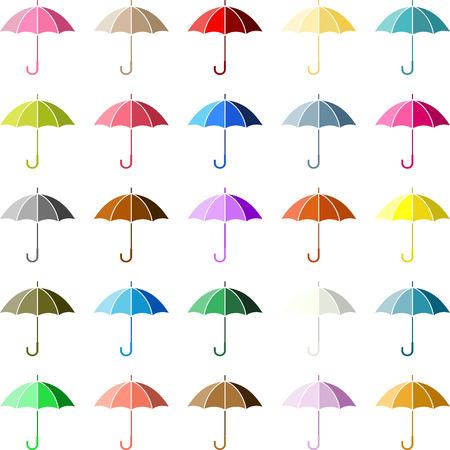 wet flies: Multiple Colored Umbrella