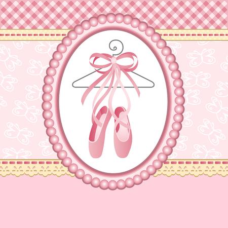 ballet: Ballet slippers on background