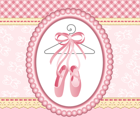 pantoufles ballet sur fond Vecteurs