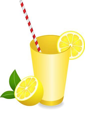 refreshment: Lemon Juice Summer Refreshment Illustration