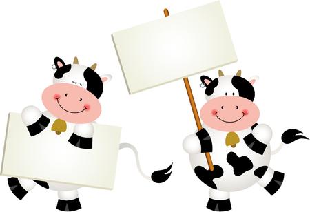 letreros: Vacas Pareja con letreros