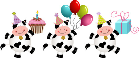 Verjaardag grappige koeien