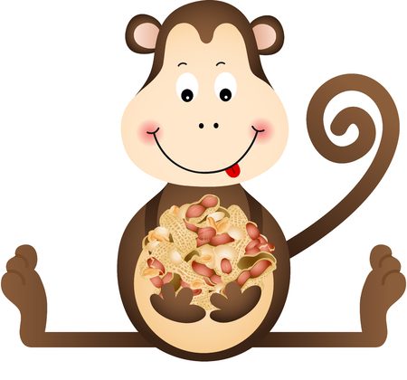 monkey nuts: Monkey Eating Peanuts