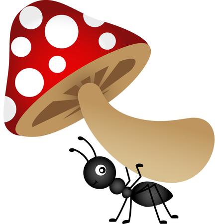 hormiga caricatura: Setas llevar Ant Vectores