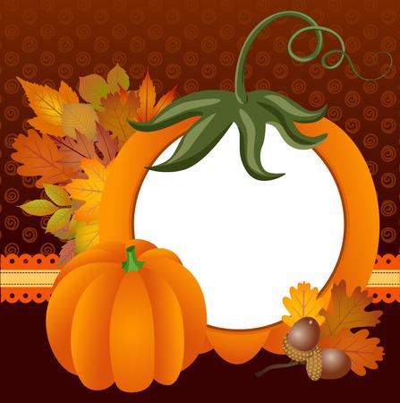 scrapbook frame: Autumn Scrapbook Frame Illustration