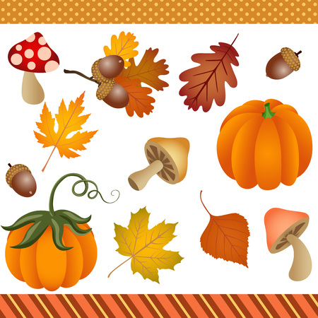 digital: Fall Autumn Clipart Digital