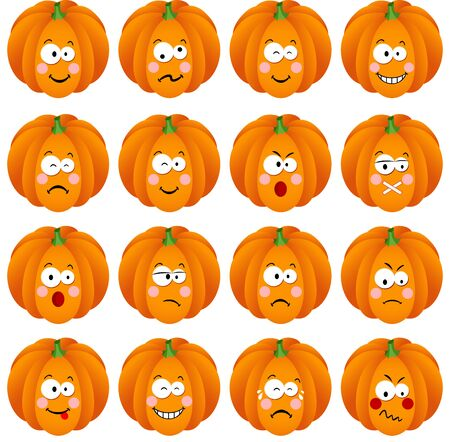 feature: Pumpkin with feature a different expression