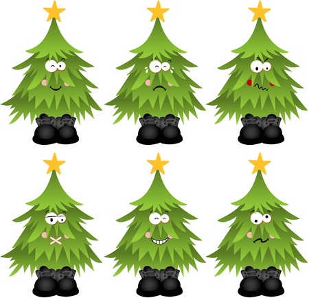 feature: Christmas tree with feature a different expression