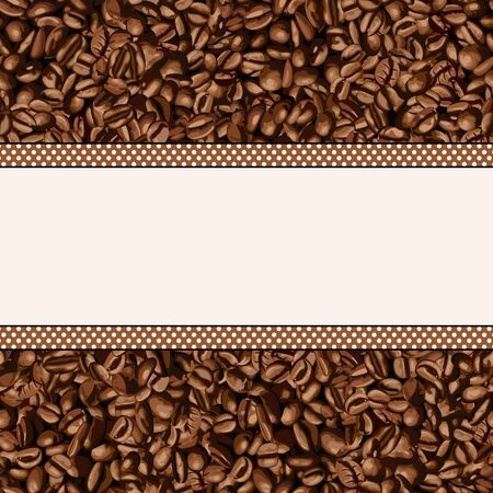 background coffee: Coffee bean background with blank banner