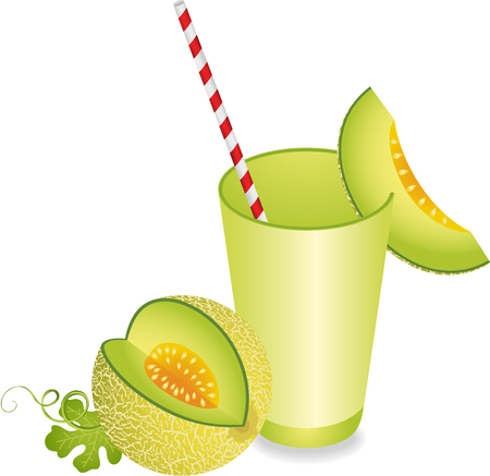 tropical drink: Cantaloupe Melon Juice Summer Refreshment